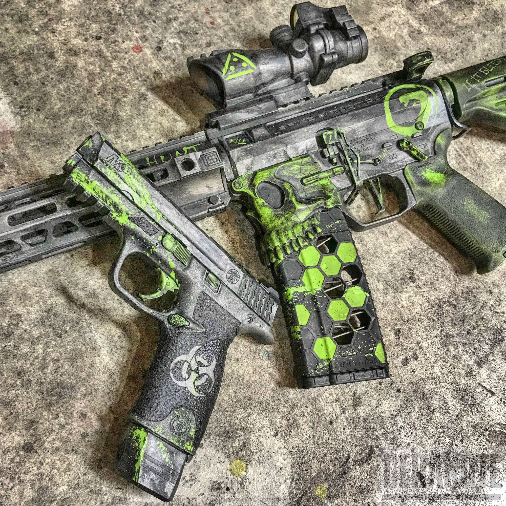BLACKOUT-CUSTOM-CERAKOTE-H-190-Armor-Black-H-151-Satin-Aluminum-H-168-Zombie-Green-and-H-170-Titanium-71893-full